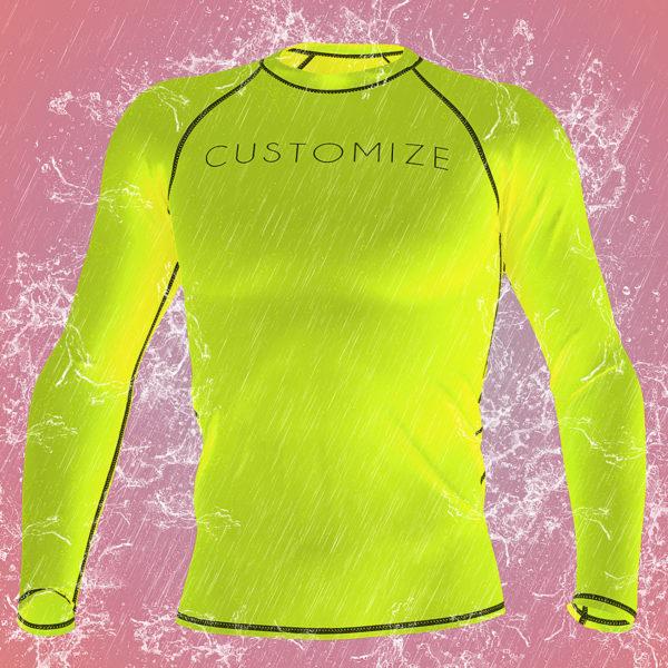 custom upf50+ swim shirt short sleeve